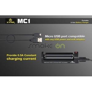 18700 Sin Bater/ías 14650 XTAR MC1 XTAR MC1 Cargador para Li-ion Bater/ía 18650 17670
