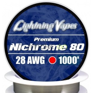 Nichrome80 28awg 0.32mm 75m - Lightning Vapes