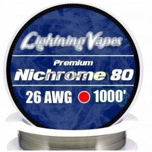 Nichrome80 26awg 0.40mm 75m - Lightning Vapes