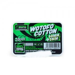 Agleted Organic Cotton 3mm (30 Uds) - Wotofo