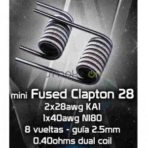 MINI FUSED CLAPTON 28 MTL 8X 25MM 040OHM 2 UDS CHUS COILS