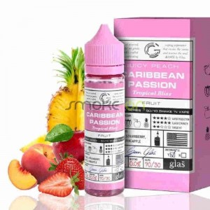 JUICY PEACH CARIBBEAN PASSION 50ML 0MG GLAS BASIX SERIES