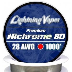 NICHROME80 28AWG 032MM 75M LIGHTNING VAPES