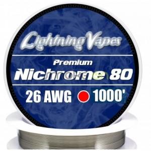 NICHROME80 26AWG 040MM 75M LIGHTNING VAPES