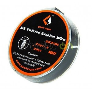 SS TWISTED CLAPTON WIRE 28GAx2 TWISTED 30GA GEEK VAPE